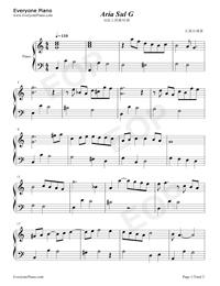 Air on the G String-Johann Sebastian Bach Free Piano Sheet