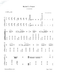 Maiden's Prayer-Baranowska-Numbered-Musical-Notation-Preview-1