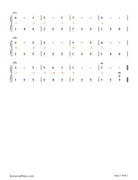 Edelweiss with Lyrics-Numbered-Musical-Notation-Preview-2