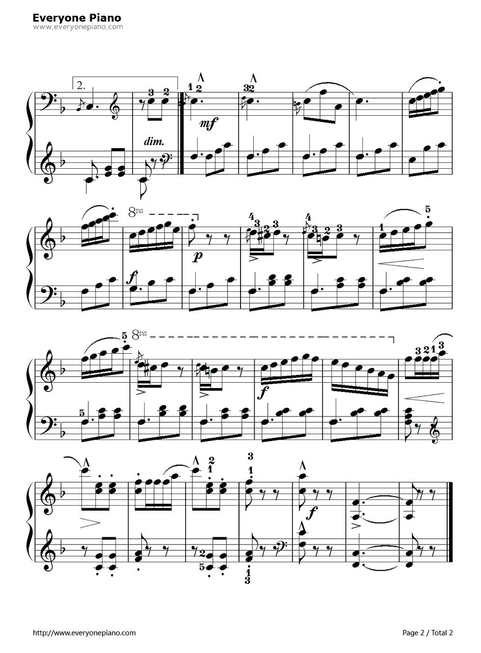 beyer no 8 piano sheet pdf