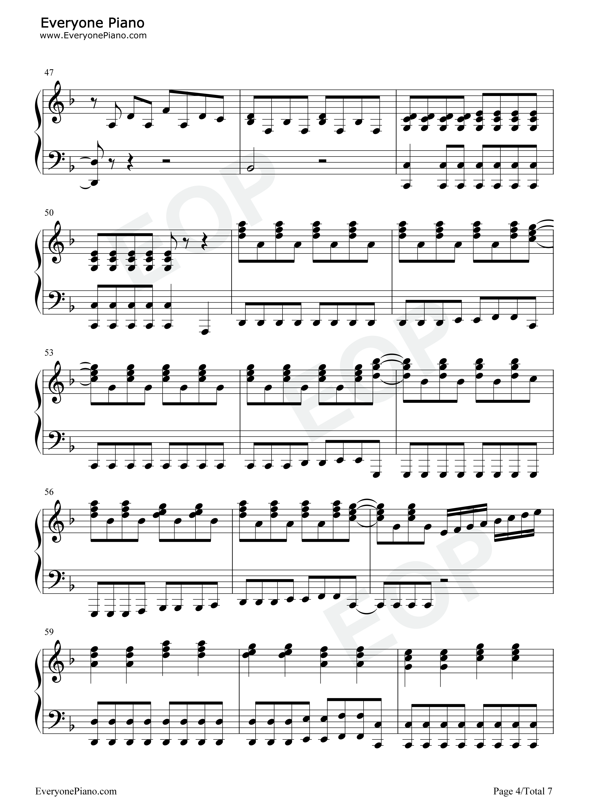 Set fire to the rain adele stave preview 4 free piano sheet music listen now print sheet set fire to the rain adele stave preview 4 hexwebz Choice Image