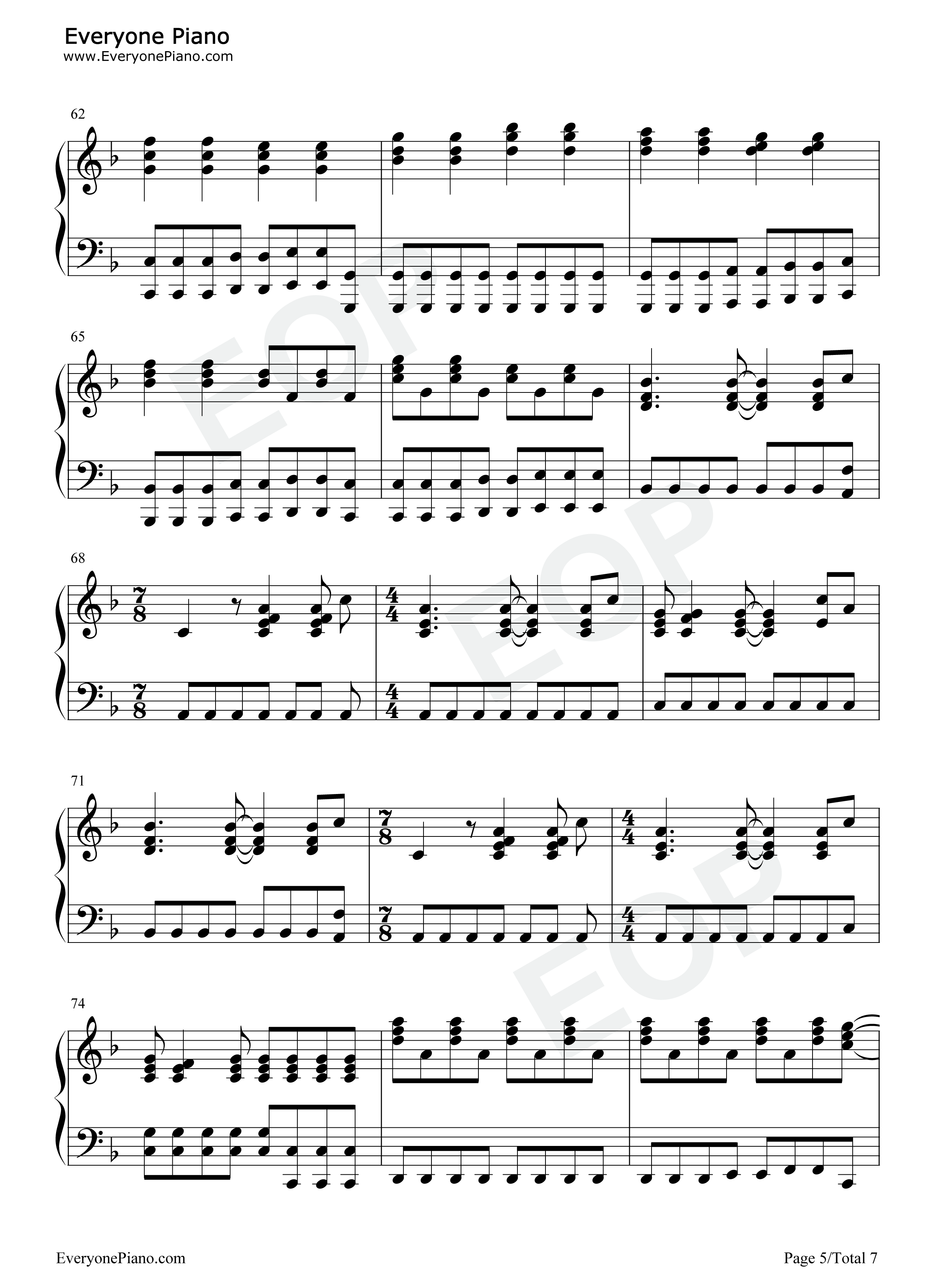 Set fire to the rain adele stave preview 5 free piano sheet music listen now print sheet set fire to the rain adele stave preview 5 hexwebz Choice Image
