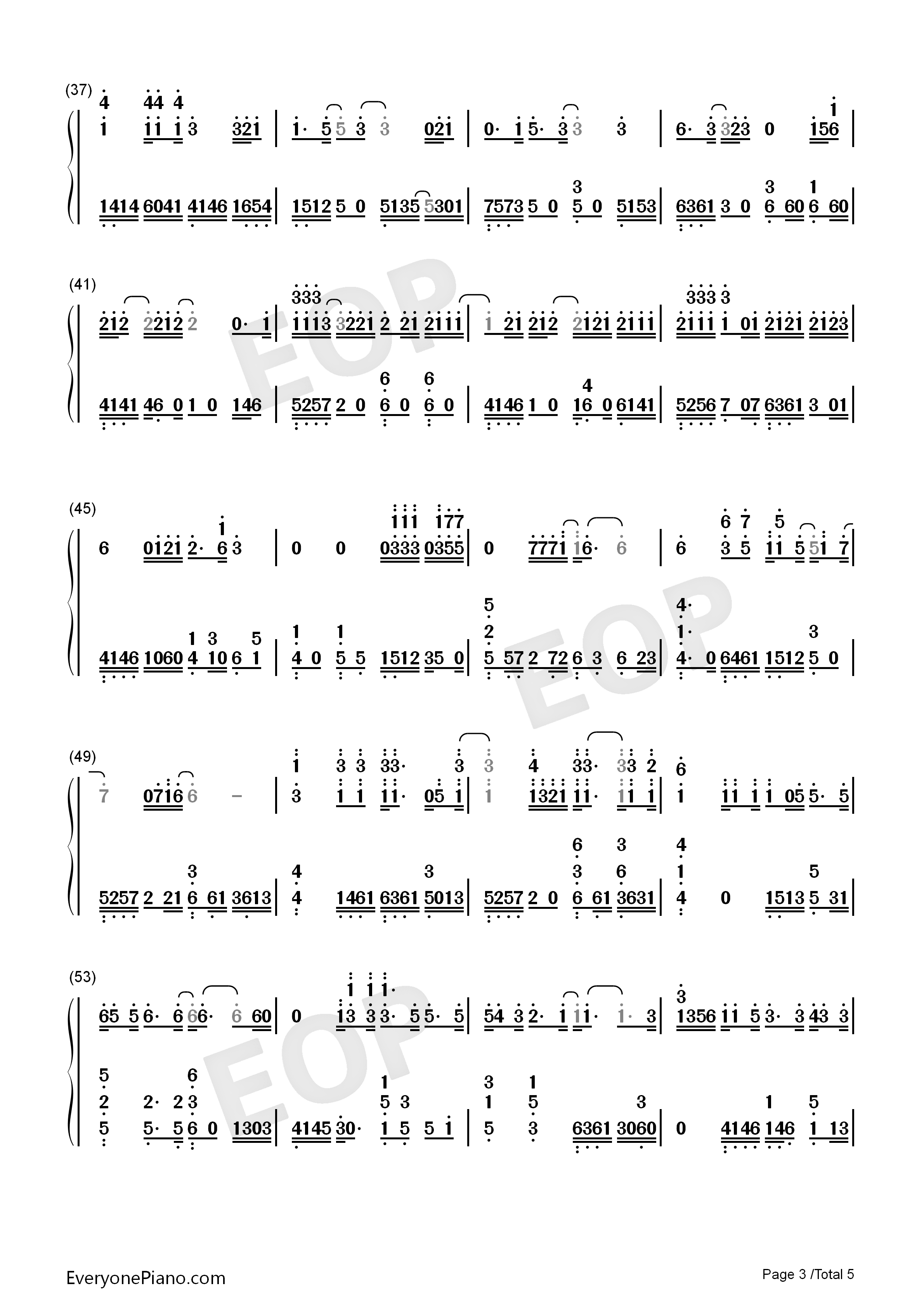 Someone like you adele numbered musical notation preview 3 free listen now print sheet someone like you adele numbered musical notation preview 3 hexwebz Image collections
