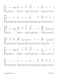 We Wish You A Merry Christmas Numbered Musical Notation Preview 2