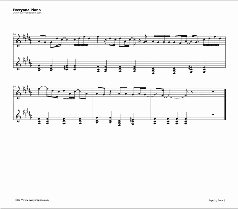Take me to your heart stave preview 2 free piano sheet music listen now print sheet take me to your heart stave preview 2 hexwebz Images