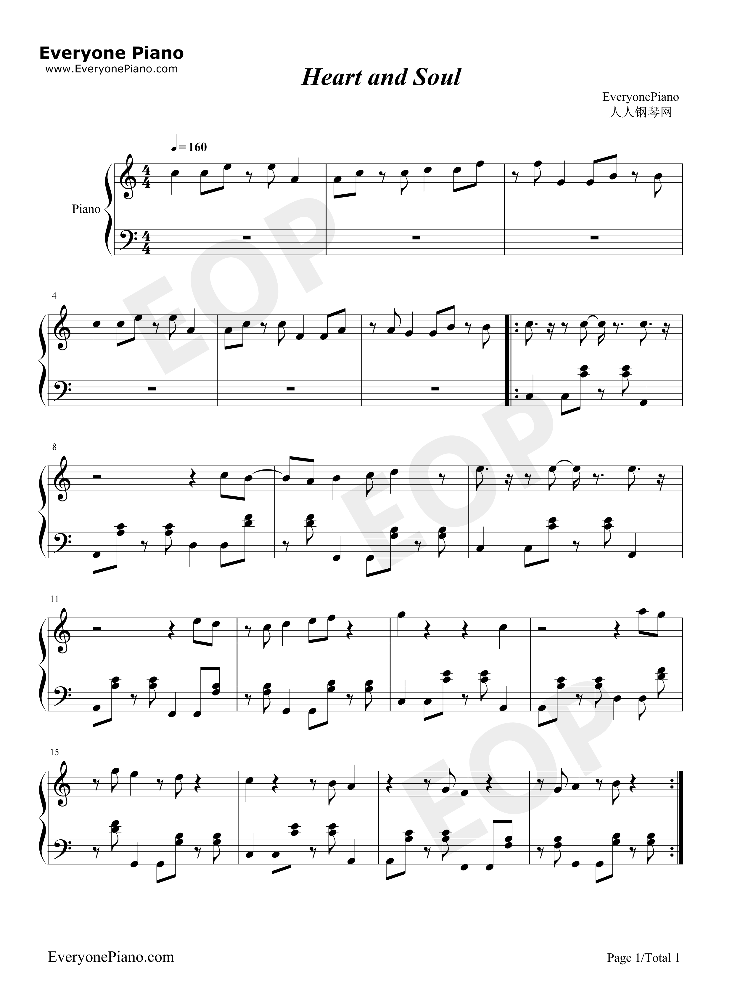 Heart and Soul-iPad mini advertising Stave Preview 1-Free Piano Sheet Music u0026 Piano Chords