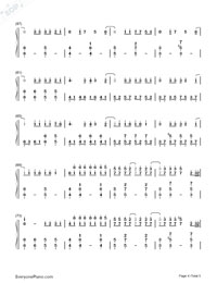 Bad Romance-Lady Gaga Numbered Musical Notation Preview 4