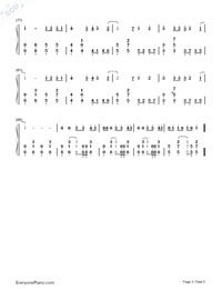 Bad Romance-Lady Gaga Numbered Musical Notation Preview 5