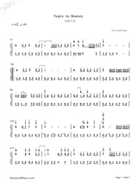Tears In Heaven-Numbered-Musical-Notation-Preview-1