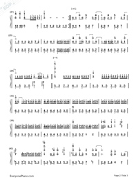 Tears In Heaven-Numbered-Musical-Notation-Preview-2