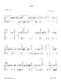 Hero-Mariah Carey-Numbered-Musical-Notation-Preview-1