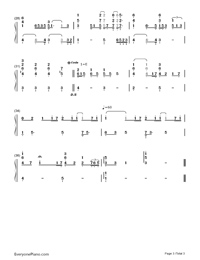 Hero-Mariah Carey-Numbered-Musical-Notation-Preview-3