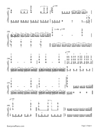 Unchained Melody Numbered Musical Notation Preview 3