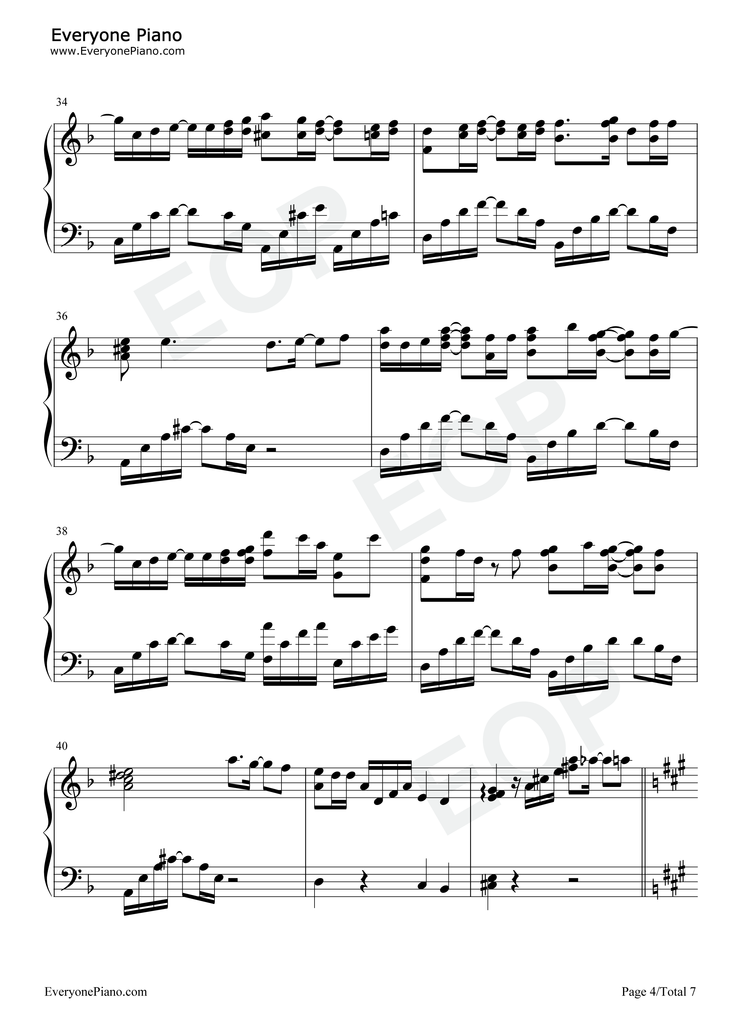 Just one last dance sarah connor free piano sheet music piano chords just one last dance sarah connor stave preview 4 hexwebz Image collections