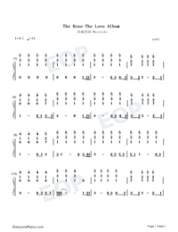 The Rose-Numbered-Musical-Notation-Preview-1
