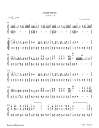 Casablanca-Bertie Higgins Numbered Musical Notation Preview 1