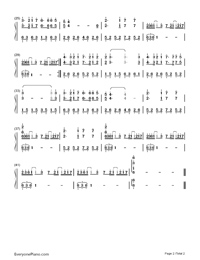 Casablanca-Bertie Higgins Numbered Musical Notation Preview 2