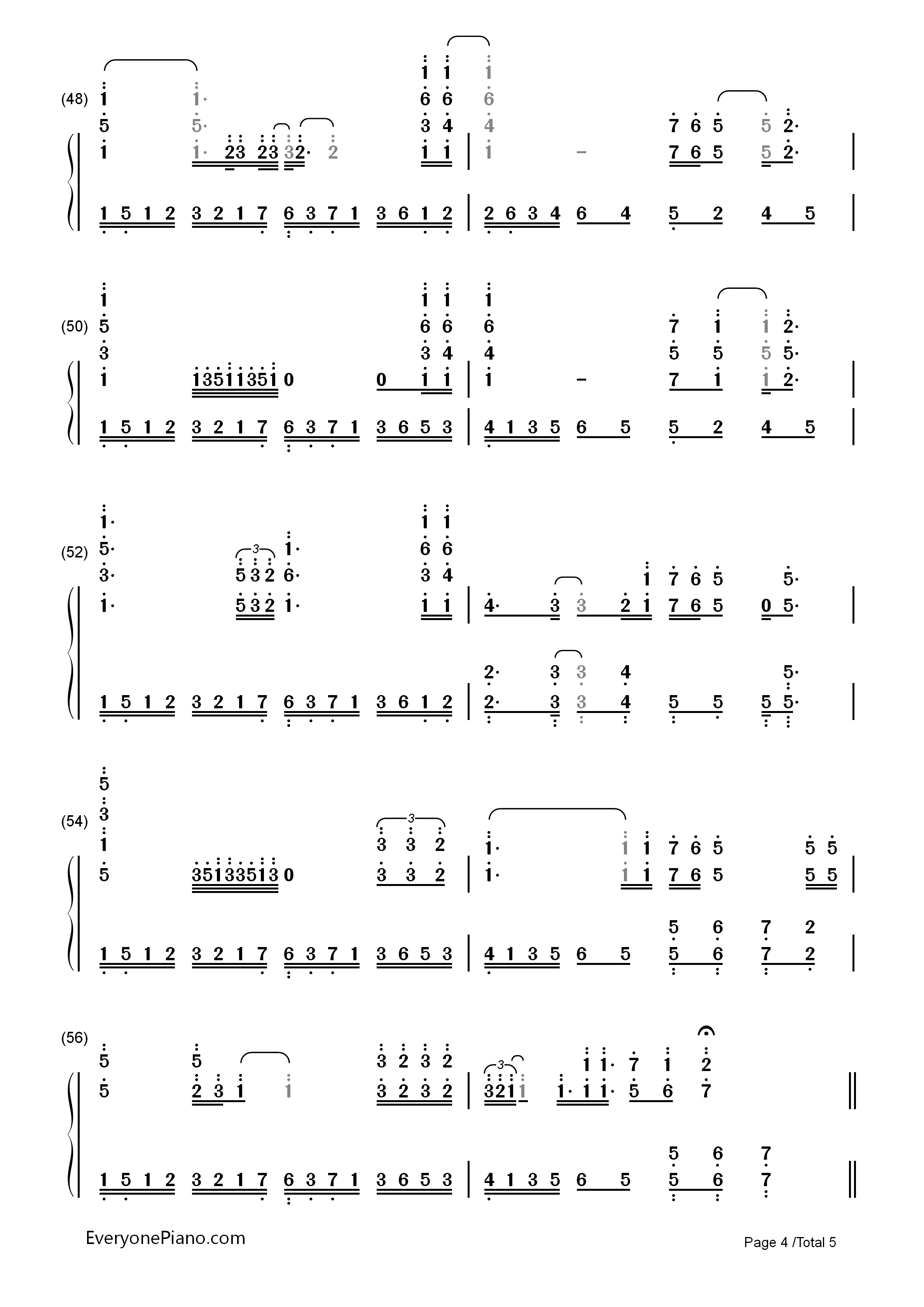 I will always love you whitney houston numbered musical notation listen now print sheet i will always love you whitney houston numbered musical notation preview 4 hexwebz Choice Image