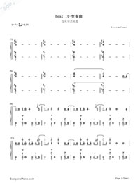 Beat It-Michael Jackson Numbered Musical Notation Preview 1