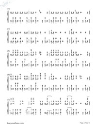 Beat It-Michael Jackson Numbered Musical Notation Preview 2