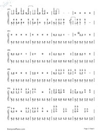 Beat It-Michael Jackson Numbered Musical Notation Preview 3