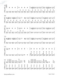 Beat It-Michael Jackson Numbered Musical Notation Preview 4