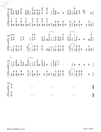Beat It-Michael Jackson Numbered Musical Notation Preview 5