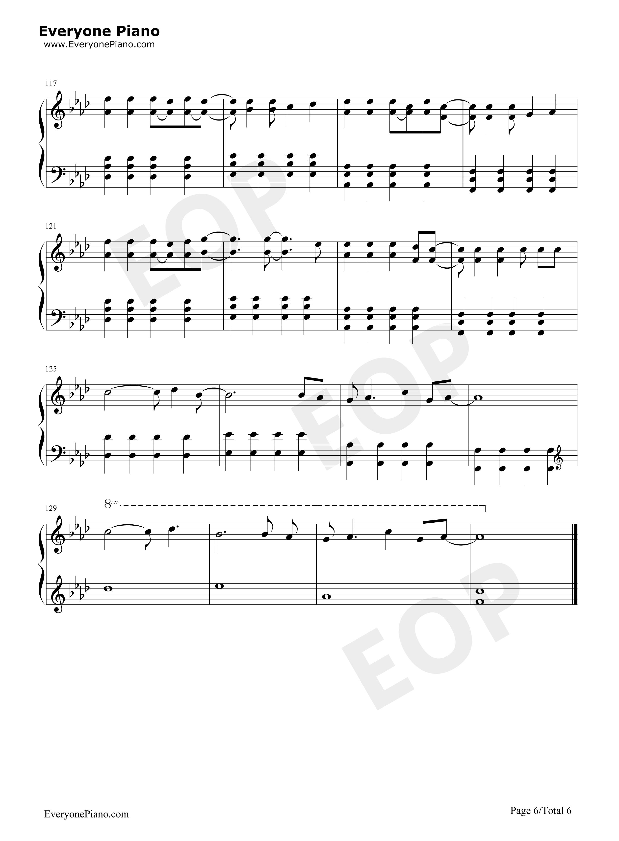 Viva la vida free piano sheet music piano chords viva la vida stave preview 6 hexwebz Choice Image