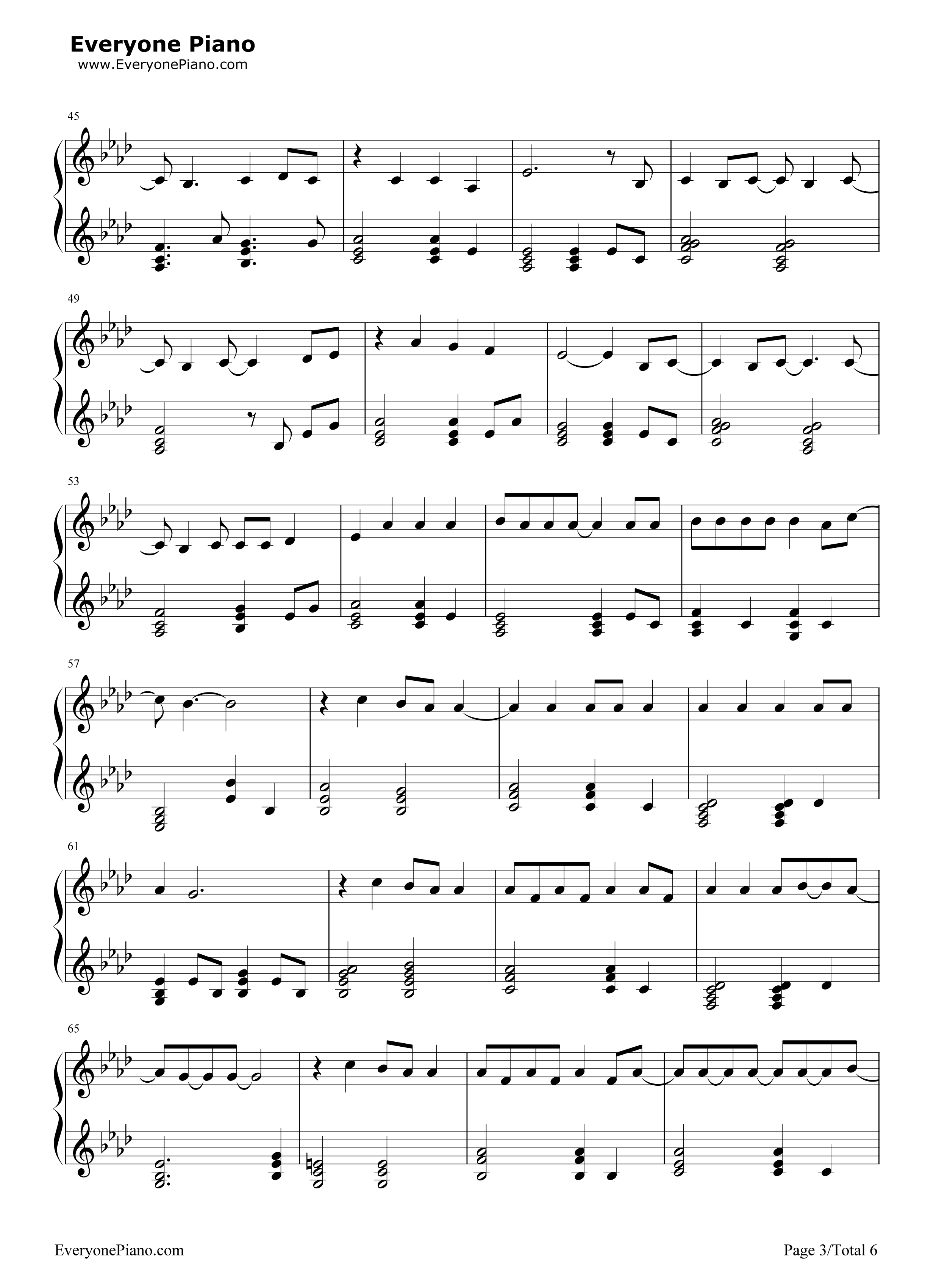 Because of you stave preview 3 free piano sheet music piano chords listen now print sheet because of you stave preview 3 hexwebz Choice Image
