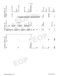 Wedding March Richard Wagner Numbered Musical Notation Preview 4
