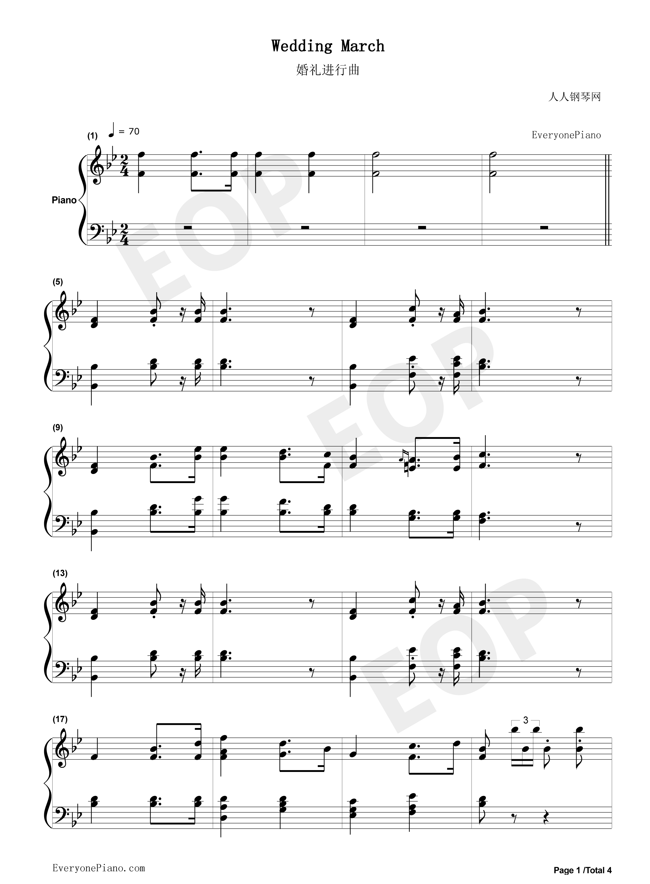Wedding march richard wagner stave preview 1 free piano sheet listen now print sheet wedding march richard wagner stave preview 1 hexwebz Image collections