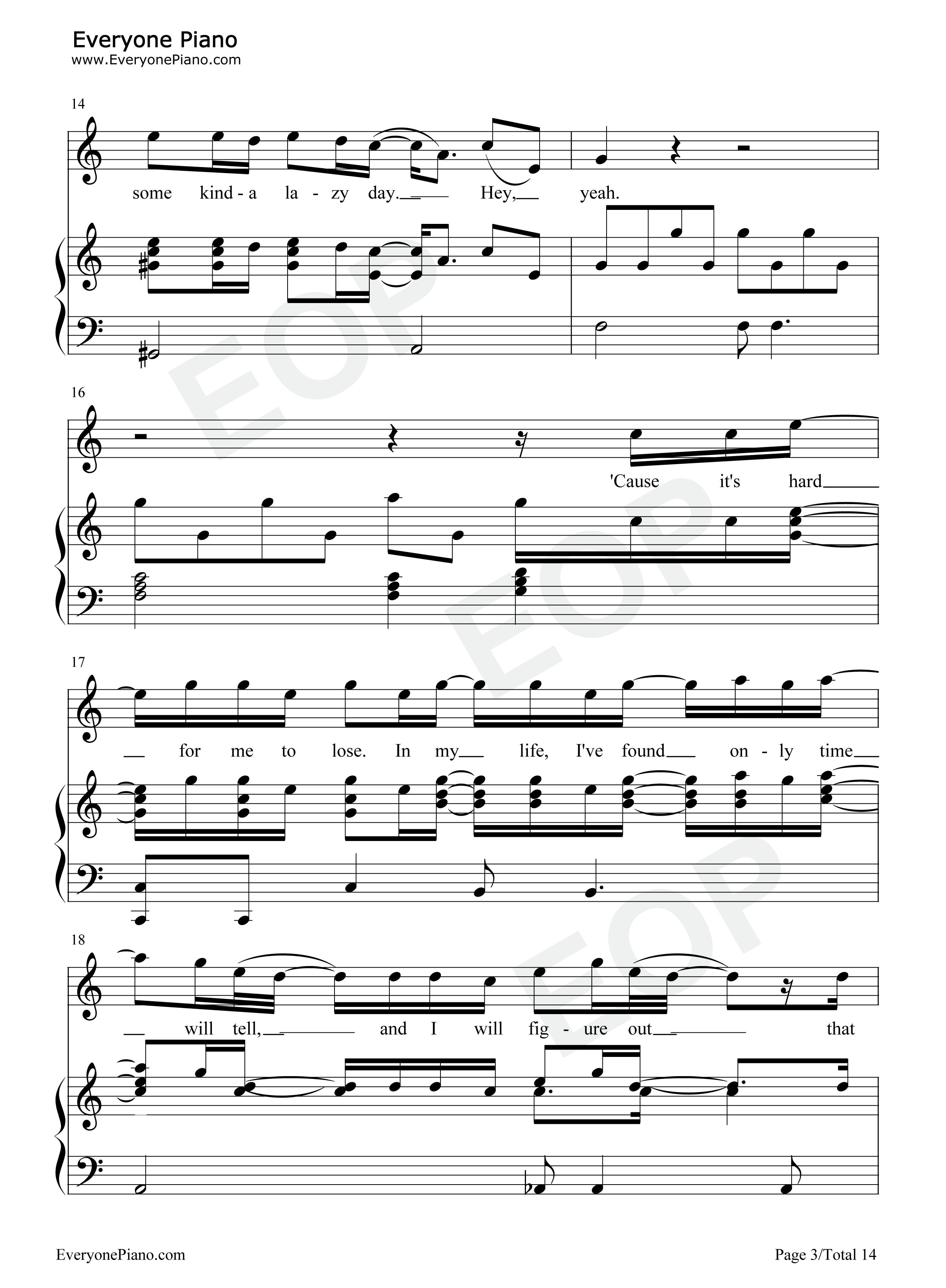 Free Loop-Daniel Richard Powter Stave Preview 3-Free Piano Sheet Music u0026 Piano Chords