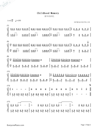 Souvenir of Love-Childhood Memory-Numbered-Musical-Notation-Preview-1