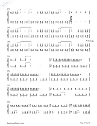 Souvenir of Love-Childhood Memory-Numbered-Musical-Notation-Preview-2
