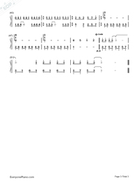 Souvenir of Love-Childhood Memory-Numbered-Musical-Notation-Preview-3