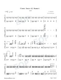 Flower Dance-花舞-很熟悉的旋律雙手簡譜預覽1
