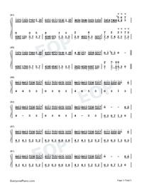 Flower Dance-花舞-很熟悉的旋律雙手簡譜預覽3