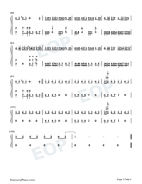 Flower Dance-花舞-很熟悉的旋律雙手簡譜預覽5