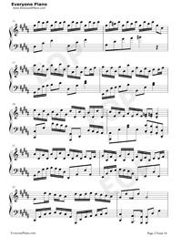 Flower Dance-花舞-很熟悉的旋律五線譜預覽2