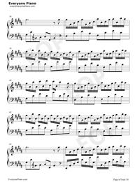 Flower Dance-花舞-很熟悉的旋律五線譜預覽6