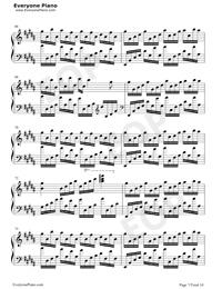 Flower Dance-花舞-很熟悉的旋律五線譜預覽7