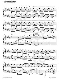 Flower Dance-花舞-很熟悉的旋律五線譜預覽8