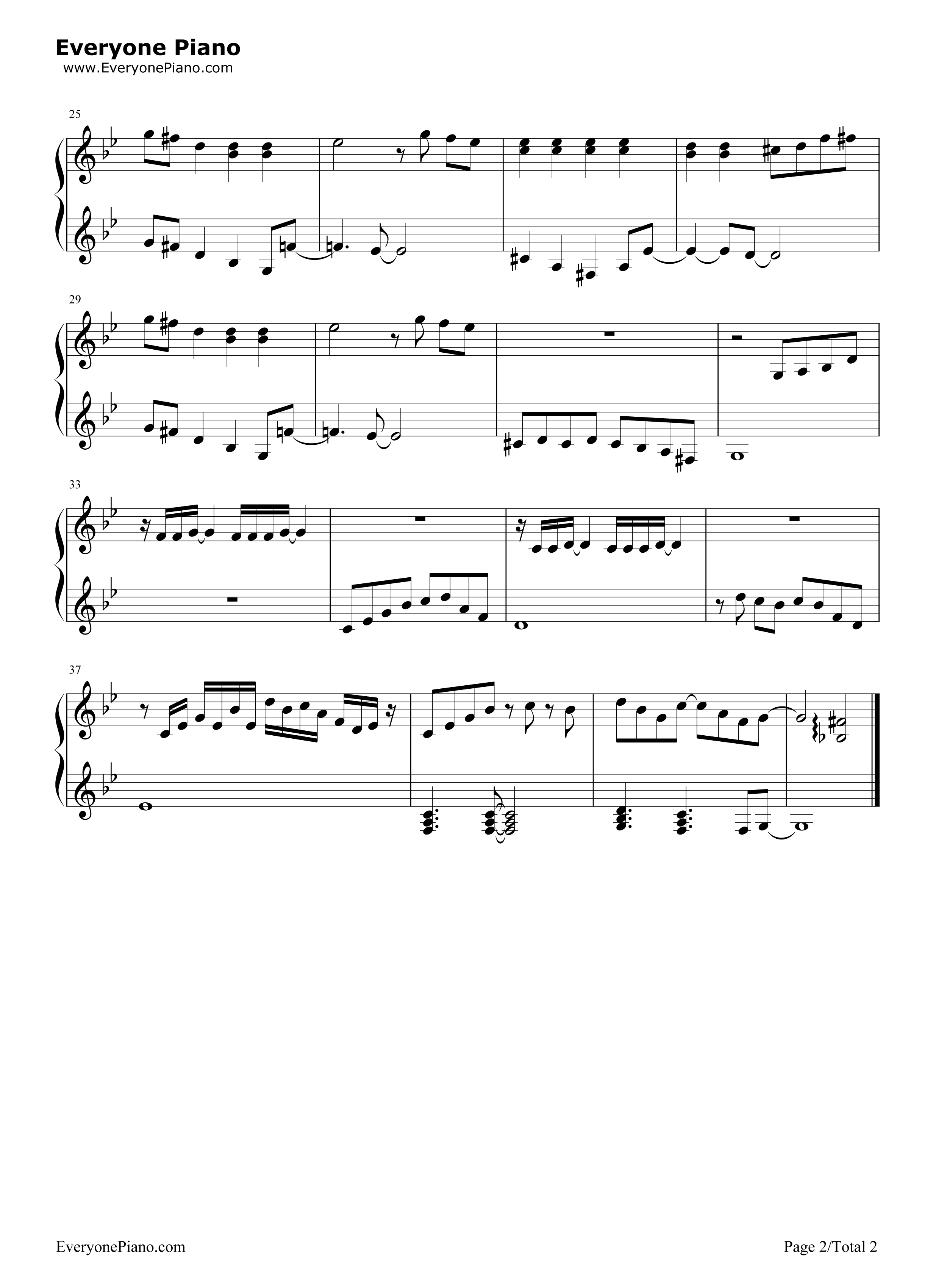 Free plants vs zombies background music piano sheet music preview