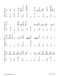 Winter Wonderland-Christmas Song-Numbered-Musical-Notation-Preview-2