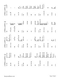 Winter Wonderland-Christmas Song Numbered Musical Notation Preview 3
