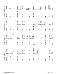 Winter Wonderland-Christmas Song Numbered Musical Notation Preview 4