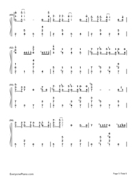 Winter Wonderland-Christmas Song Numbered Musical Notation Preview 5
