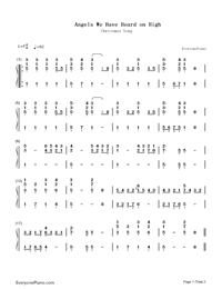 Angels We Have Heard on High-Christmas Song-Numbered-Musical-Notation-Preview-1