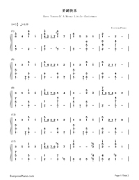 have yourself a merry little christmas christmas song numbered musical notation