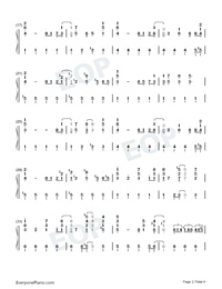all i want for christmas is you christmas song numbered musical notation - All I Want For Christmas Song